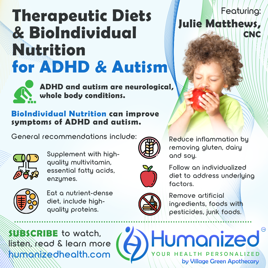 Therapeutic Diets and BioIndividual Nutrition for ADHD and Autism